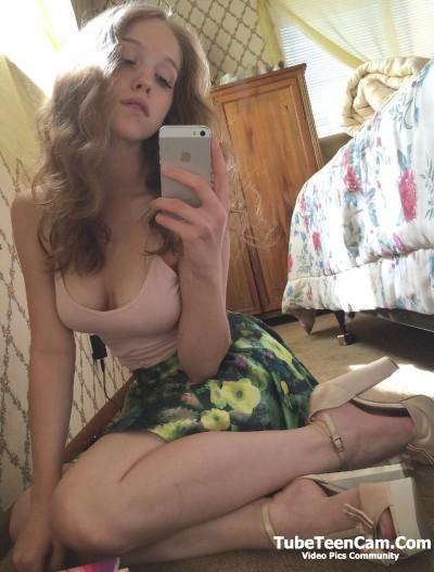 Sexy beauty teen selfie