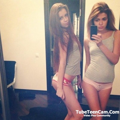 Hot girls in sexy panties selfie