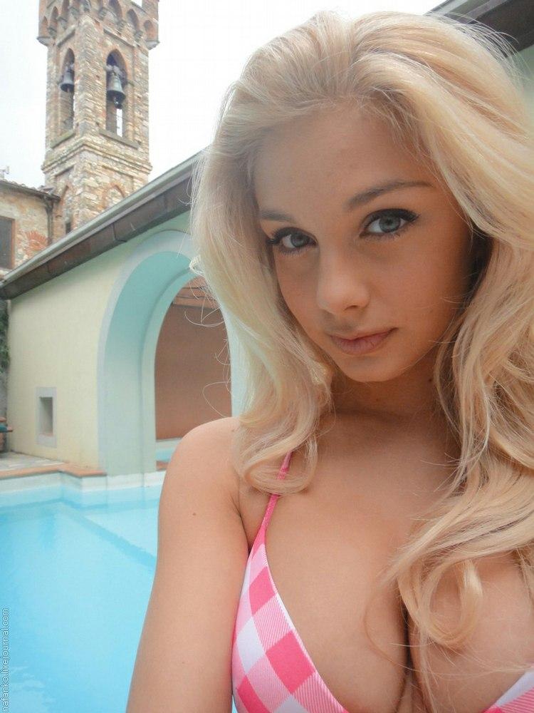 Selfie nude horny young women