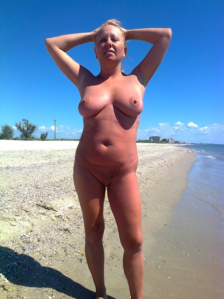 At beach the girls curvy