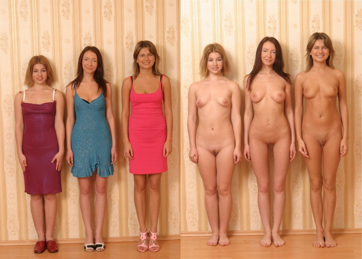 girl with vs without cloths on pictures