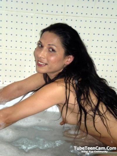 2 inches nipples 18 y.o. babe in bath