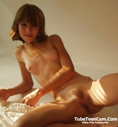 18 nude teen Ann with small tits and little bit hairy small pussy