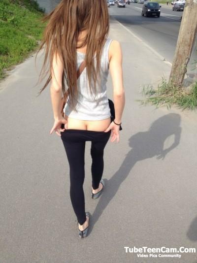 Gf ass on public))