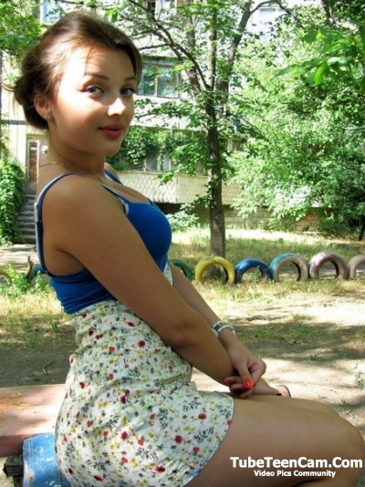 Cute Gf in sexy skirt