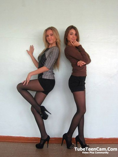 Two college girls sluts with long legs